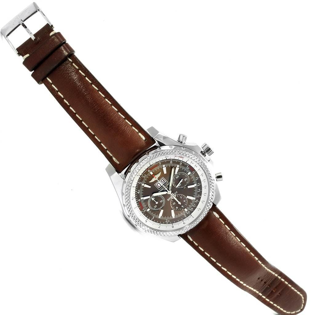 Breitling Bentley Motors Chronograph Bronze Dial Mens Watch A44362 SwissWatchExpo
