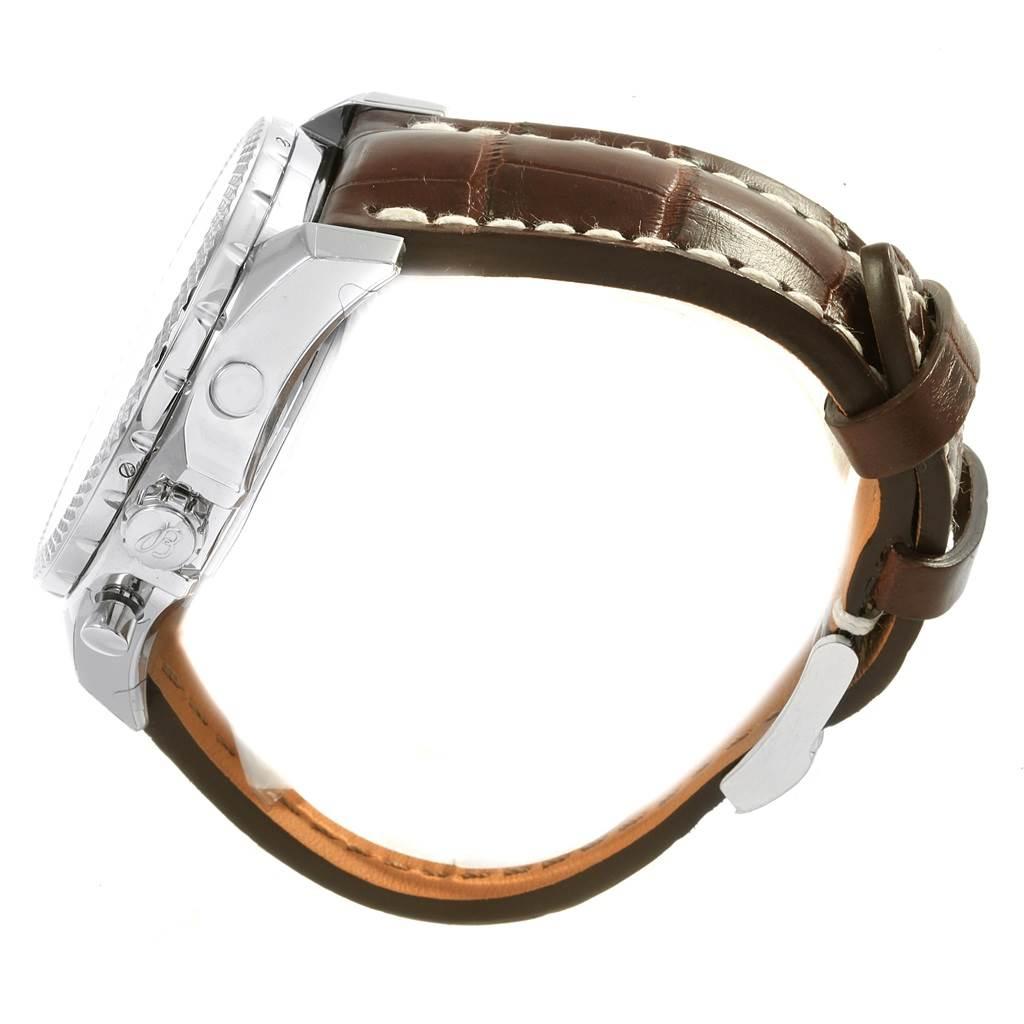 Breitling Bentley B06 Silver Dial Brown Strap Watch AB0611 Unworn SwissWatchExpo