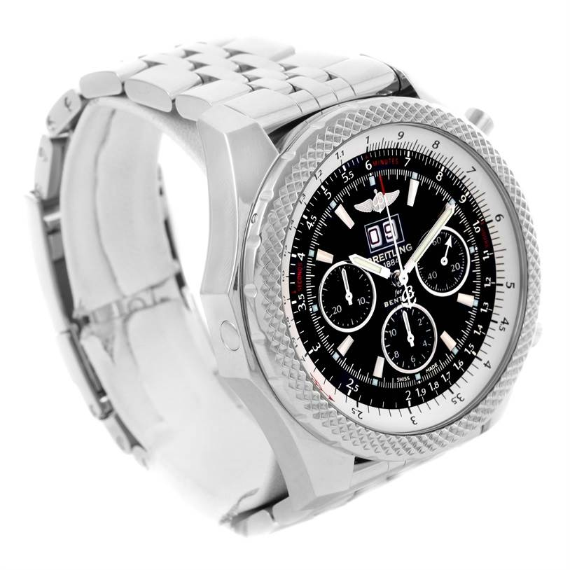 Breitling Bentley 6.75 Speed Chronograph Black Dial Mens Watch A44364 SwissWatchExpo