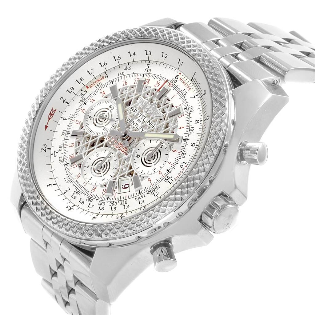 18804 Breitling Bentley B06 Silver Dial Chronograph Watch AB0611 Box Papers SwissWatchExpo