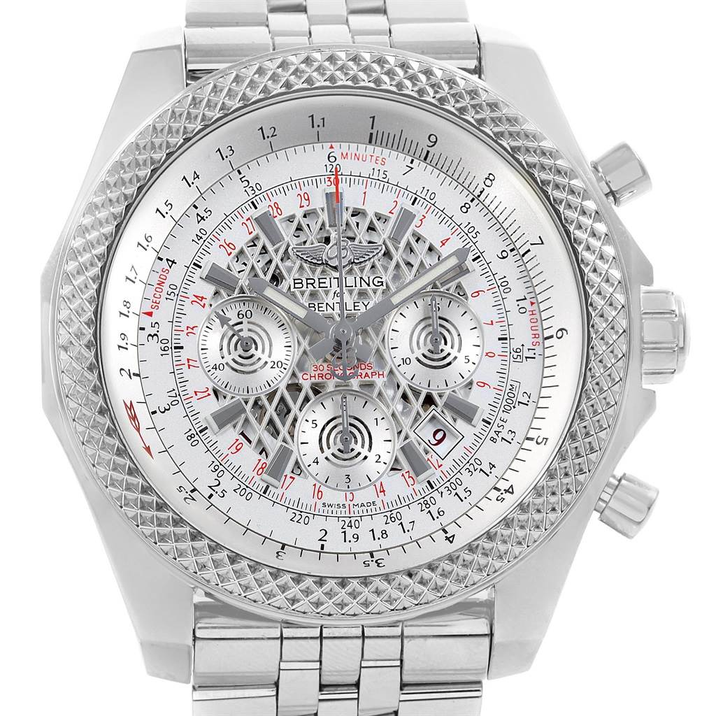 Breitling Bentley B06 Silver Dial Chronograph Watch AB0611 Box Papers SwissWatchExpo