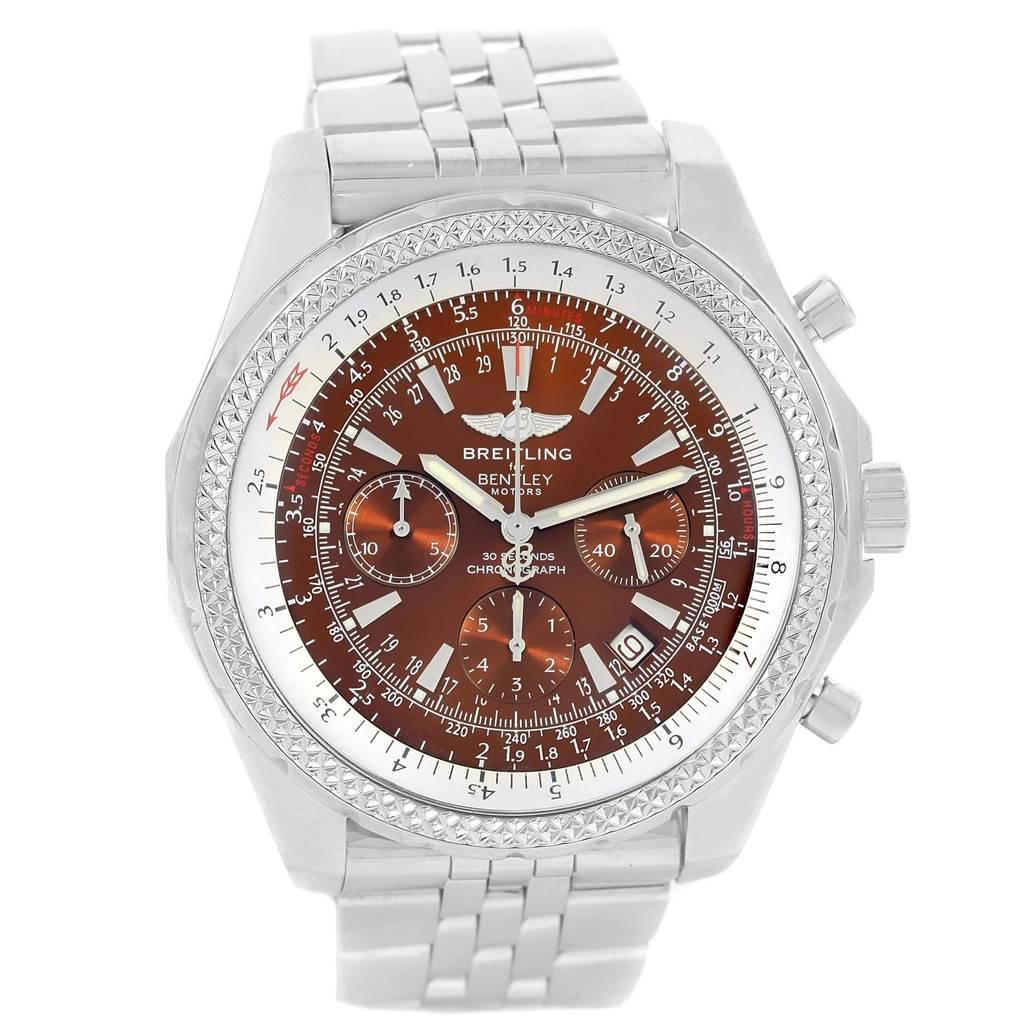 Breitling Bentley Motors Bronze Dial Chronograph Mens Watch A25362 SwissWatchExpo