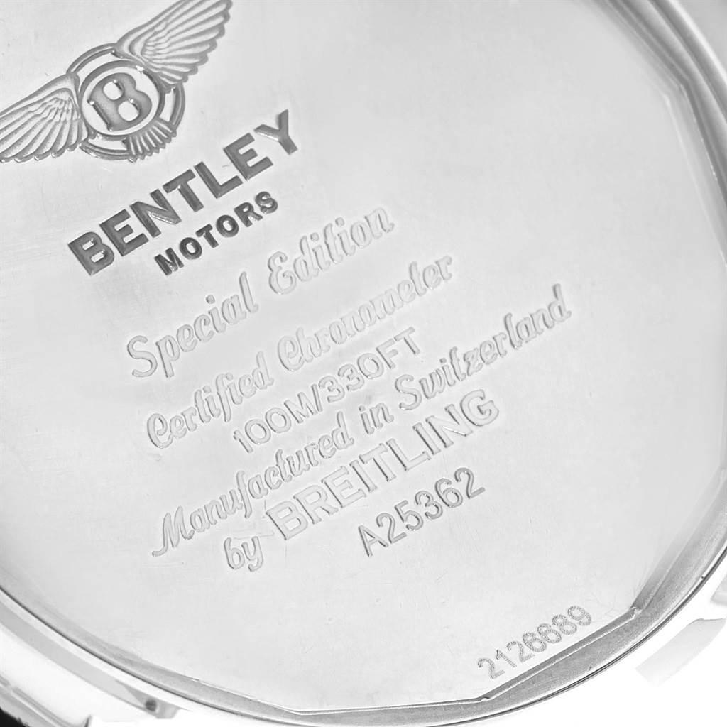 18651 Breitling Bentley Motors Burgundy Dial Chronograph Mens Watch A25362 SwissWatchExpo