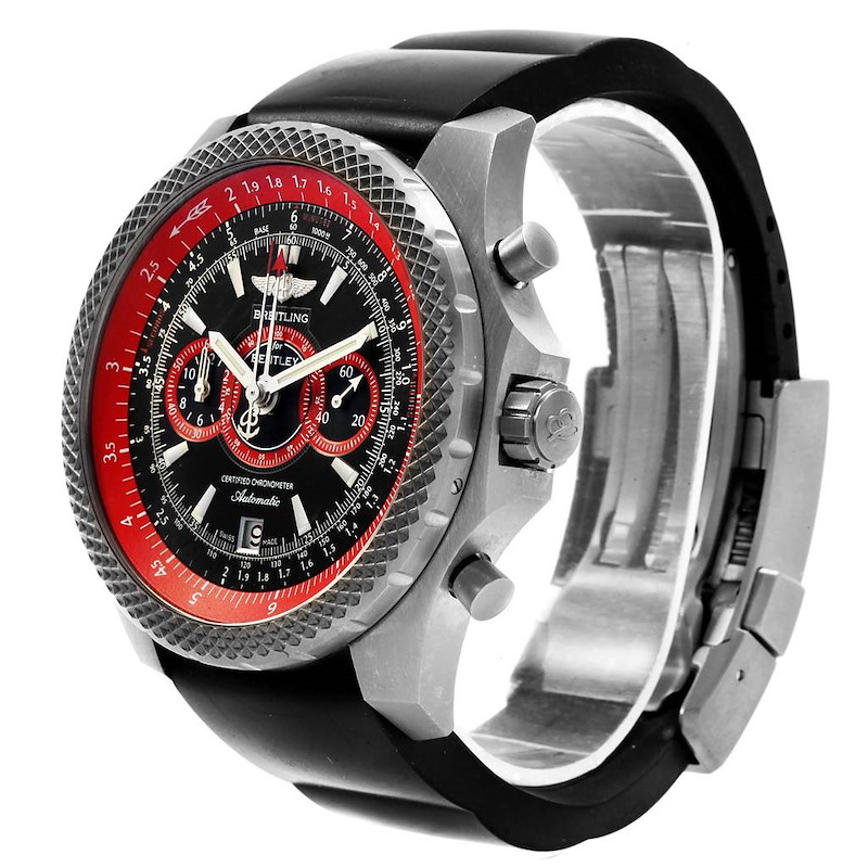 Breitling Bentley Super Sports Black Red Limited Edition Watch E27365 SwissWatchExpo