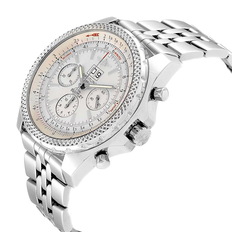 Breitling Bentley Motors Silver Dial Chronograph Mens Watch A44362 Box Papers SwissWatchExpo
