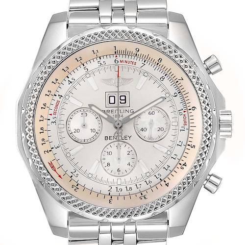 Photo of Breitling Bentley Motors Silver Dial Chronograph Mens Watch A44362 Box Papers