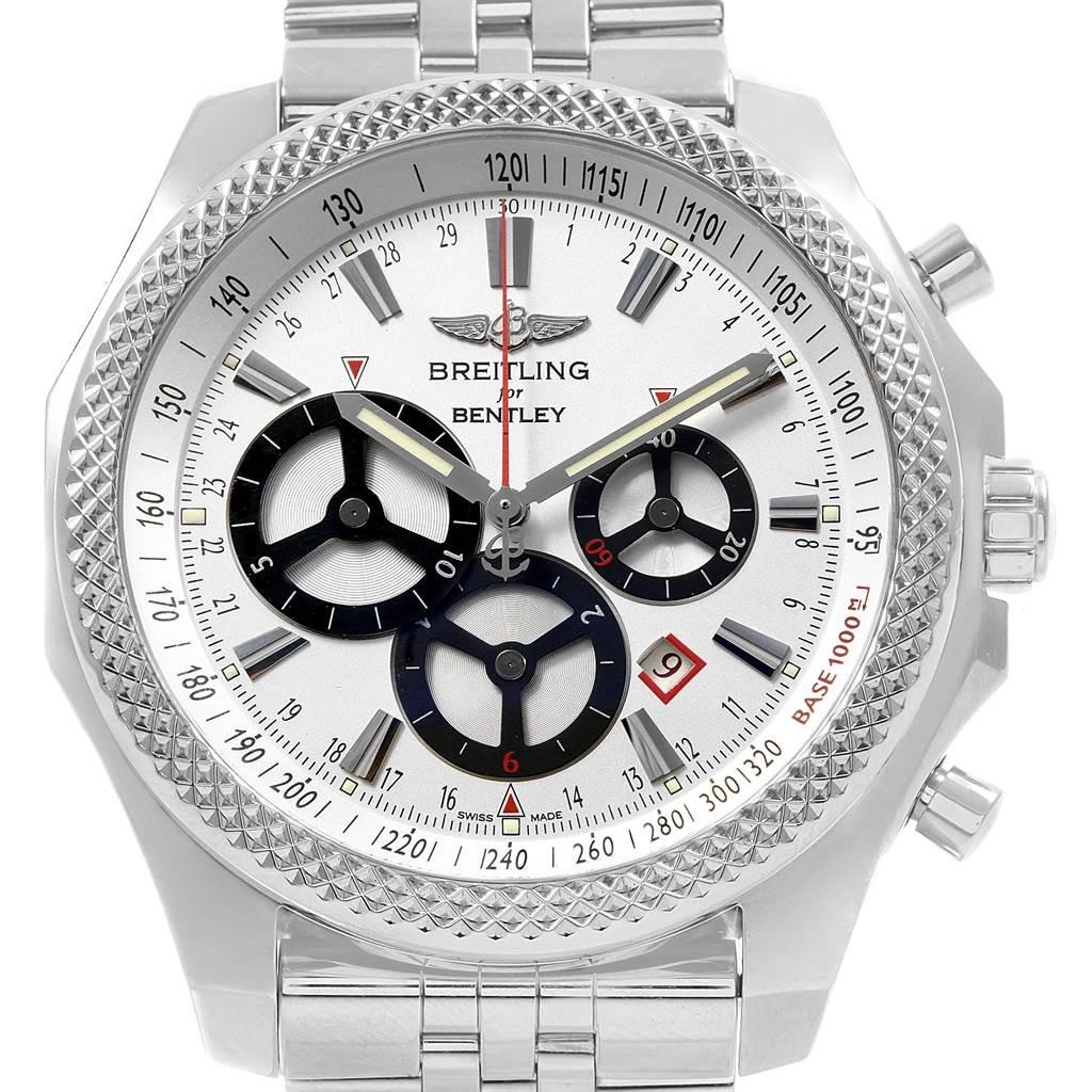 19773 Breitling Bentley Barnato Racing Silver Dial Mens Watch A25368 SwissWatchExpo