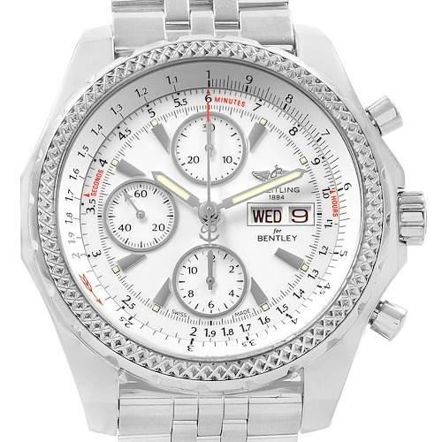 Photo of Breitling Bentley Motors GT White Dial Mens Watch A13362 Box Papers