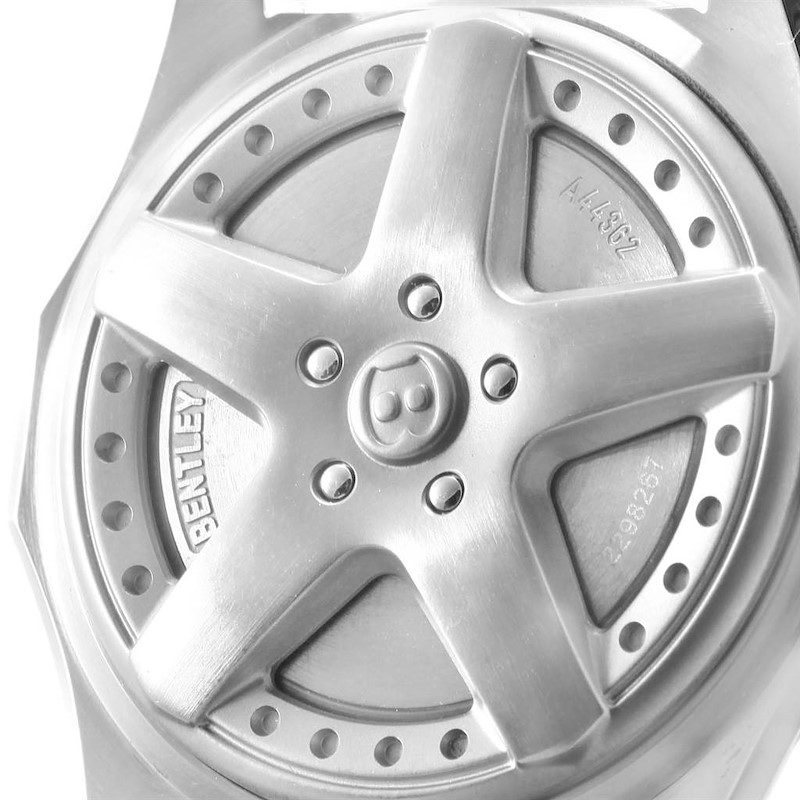Breitling Bentley Motors Silver Dial Chronograph Mens Watch A44362 SwissWatchExpo