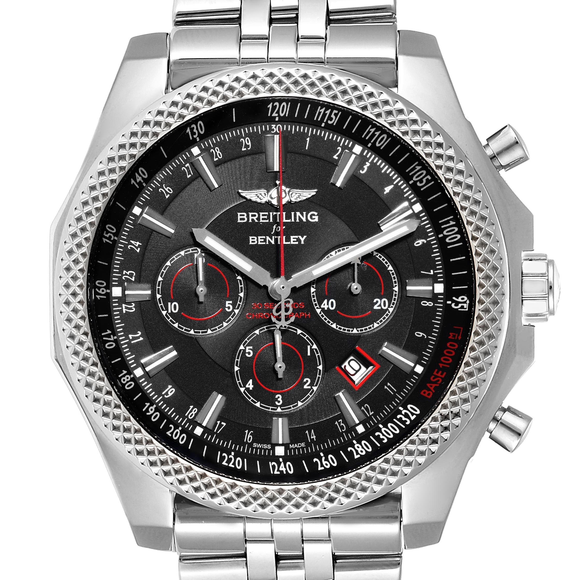 Breitling Bentley Barnato Racing Black Dial Mens Watch A25368 SwissWatchExpo
