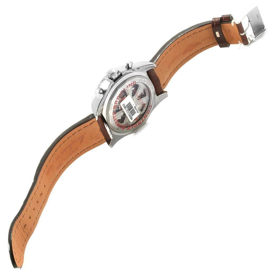 19996 Breitling Bentley B06 Silver Dial Brown Strap Watch AB0611 Unworn SwissWatchExpo