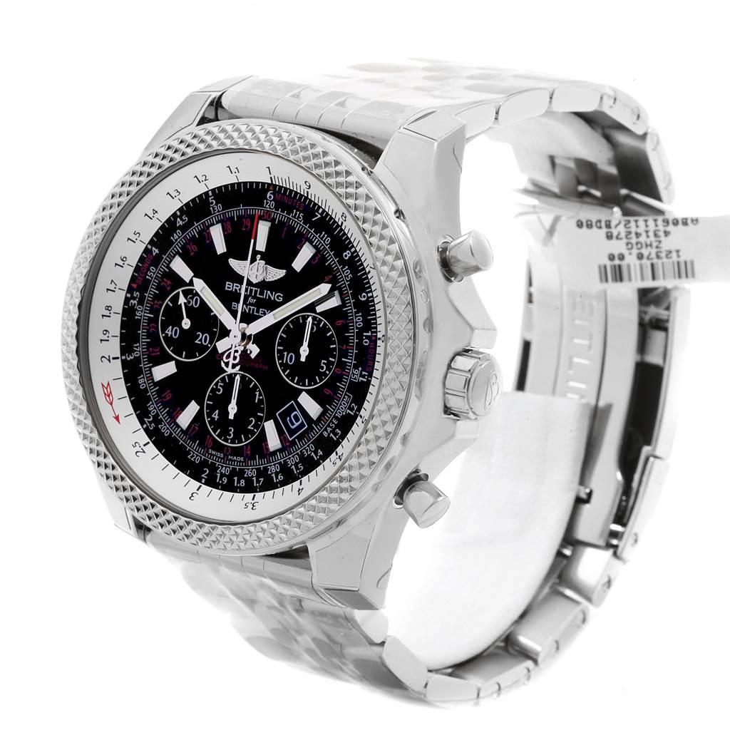 Breitling Bentley B06 Black Dial Chronograph Mens Watch AB0611 Unworn SwissWatchExpo