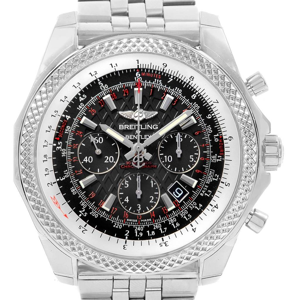 Breitling Bentley B06 Black Dial Chronograph Mens Watch AB0611 Unworn SwissWatchExpo
