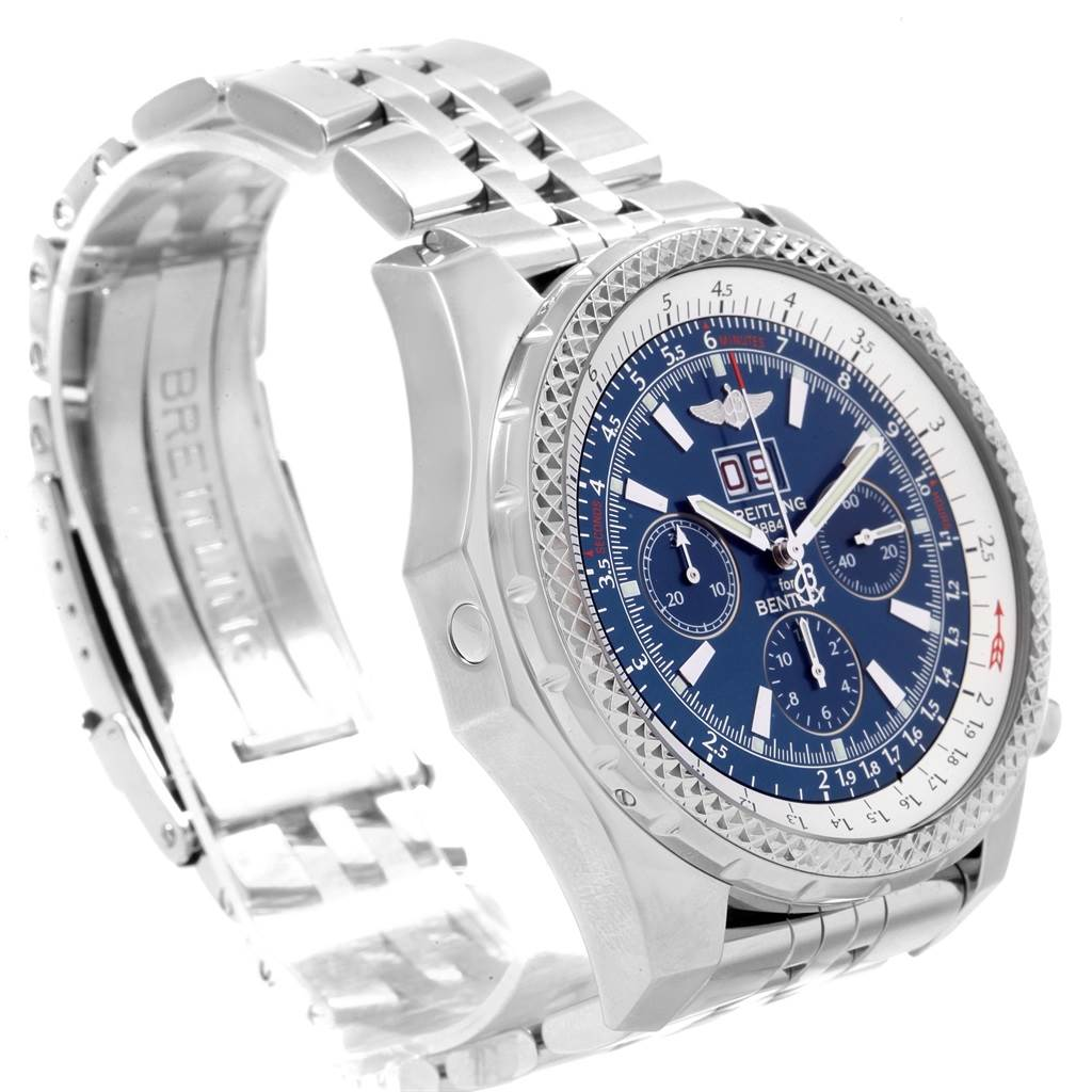 Breitling Bentley Motors Blue Dial Chronograph Watch A44362 Box papers SwissWatchExpo