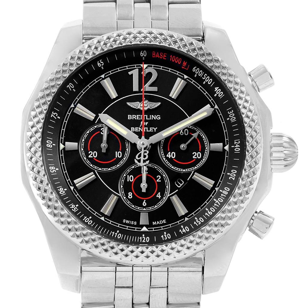 19667 Breitling Bentley Barnato 42 Chronograph Black Dial Mens Watch A41390 SwissWatchExpo
