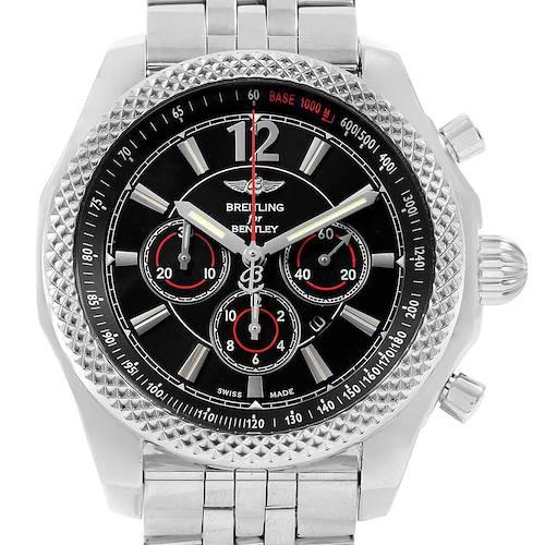 Photo of Breitling Bentley Barnato 42 Chronograph Black Dial Mens Watch A41390