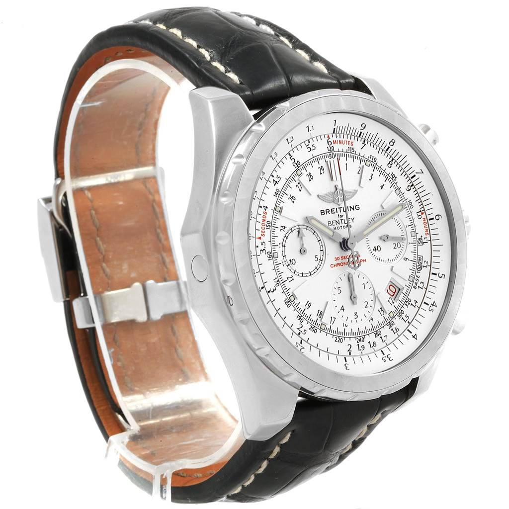 6412X Breitling Bentley Motors Chronograph Silver Dial Mens Watch A25362 SwissWatchExpo