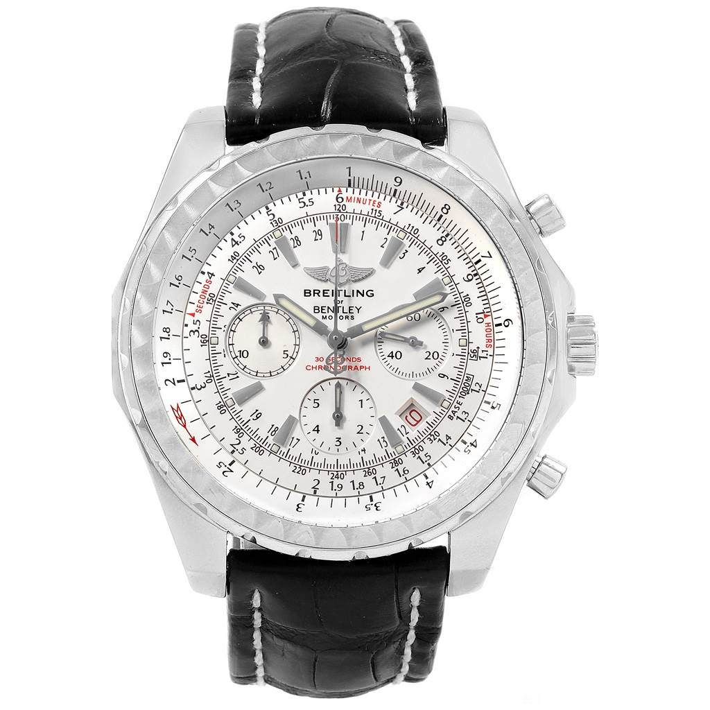 Breitling Bentley Motors Chronograph Silver Dial Mens