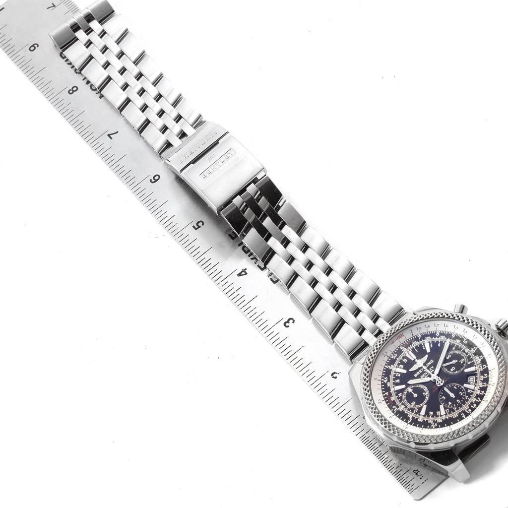 20296 Breitling Bentley Motors Black Dial Chronograph Mens Watch A25362 SwissWatchExpo