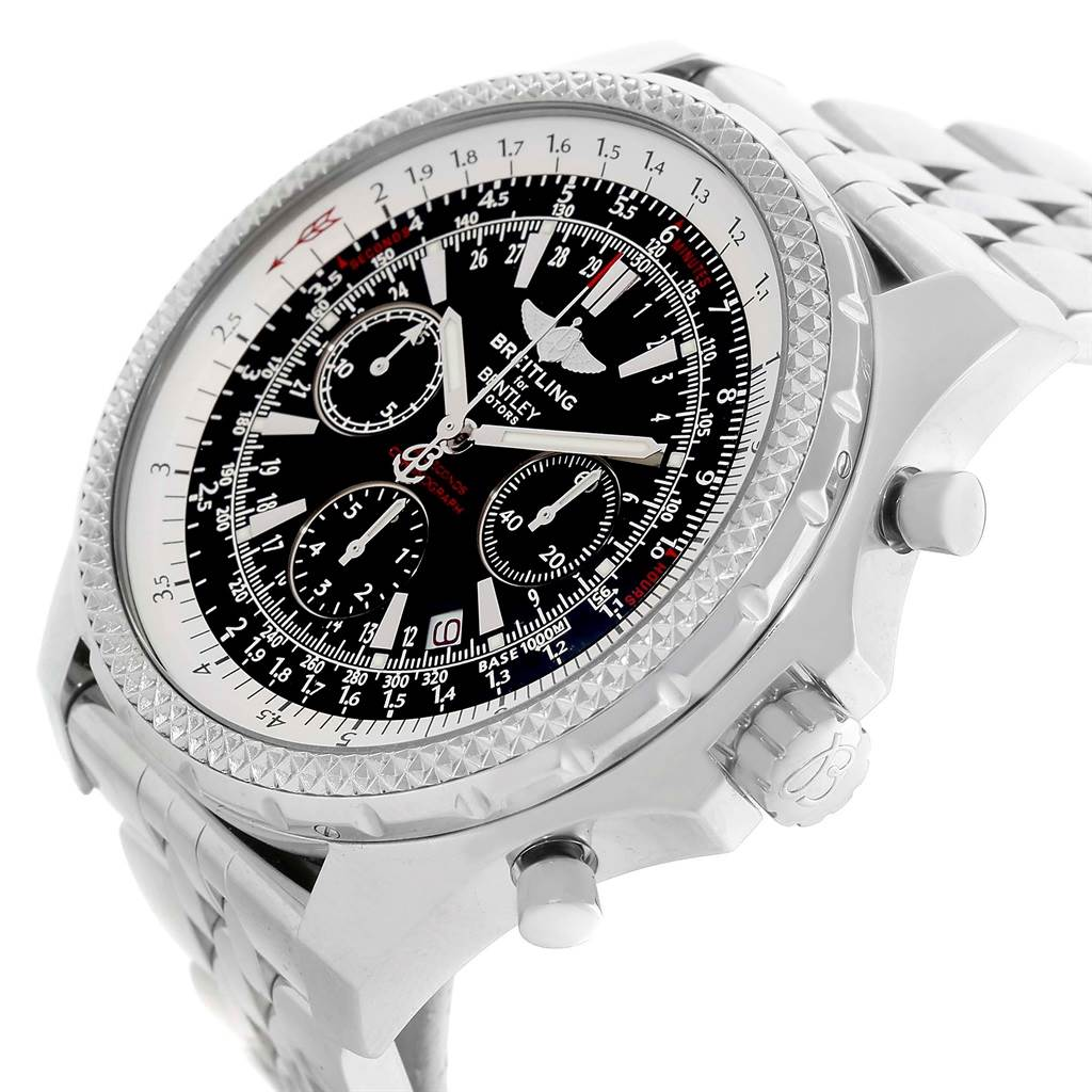Fs Breitling Bentley Gt Chrono Stainless Silver Dial 45mm: Breitling Bentley Motors Black Dial Chronograph Mens Watch