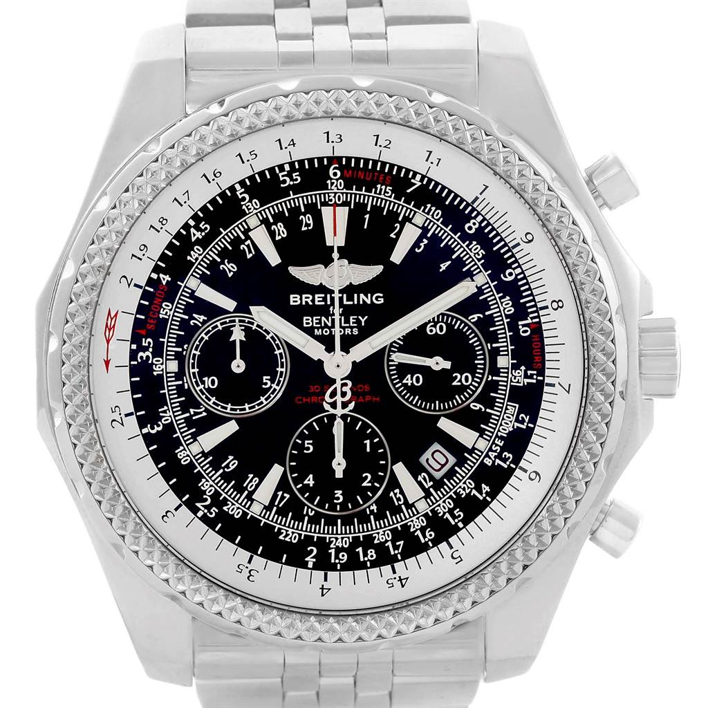 Breitling Bentley Motors Black Dial Chronograph Mens Watch