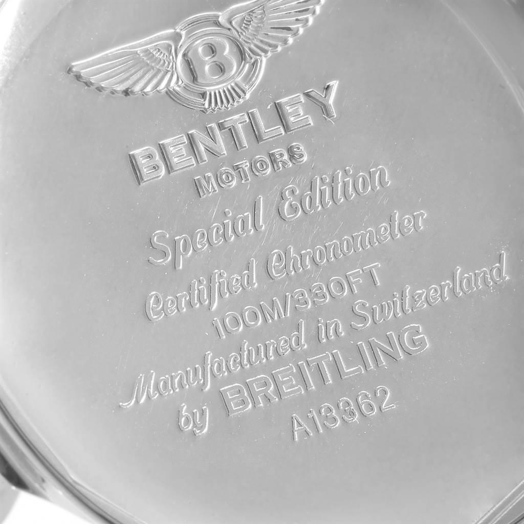 Breitling Bentley Motors GT Black Dial Mens Watch A13362 SwissWatchExpo