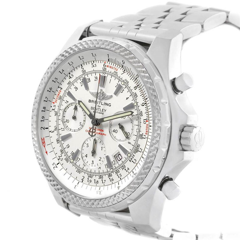 Breitling Bentley Motors Silver Dial Chronograph Watch A25362 Box SwissWatchExpo