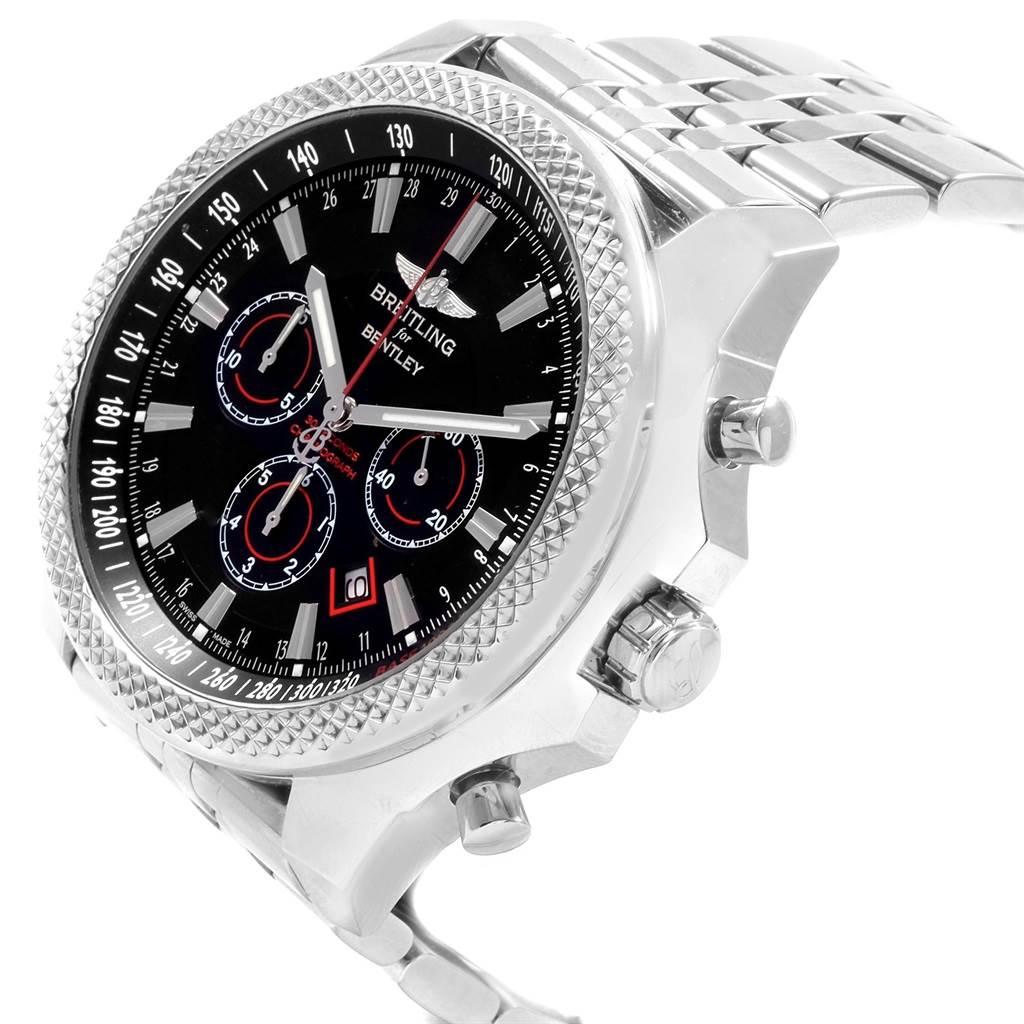 20730 Breitling Bentley Barnato Racing Black Dial Steel Watch A25368 SwissWatchExpo