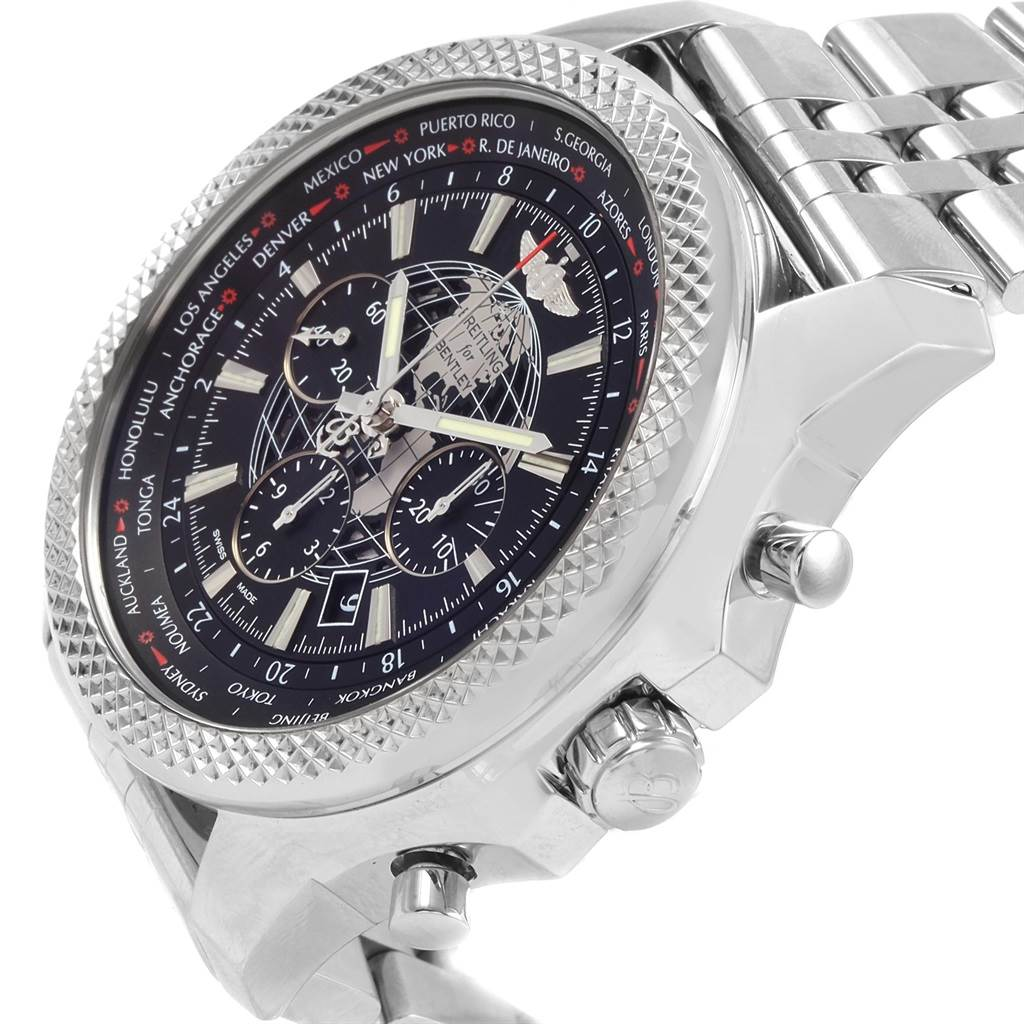 21211 Breitling Bentley GMT B05 Unitime Black Dial Mens Watch AB0521 SwissWatchExpo