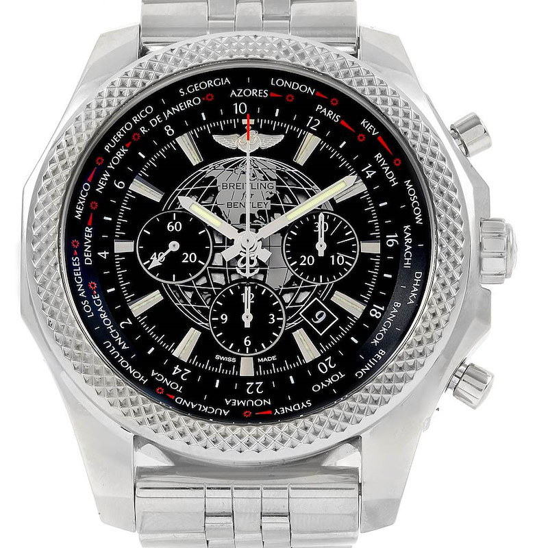 Breitling Bentley GMT B05 Unitime Black Dial Mens Watch AB0521 SwissWatchExpo