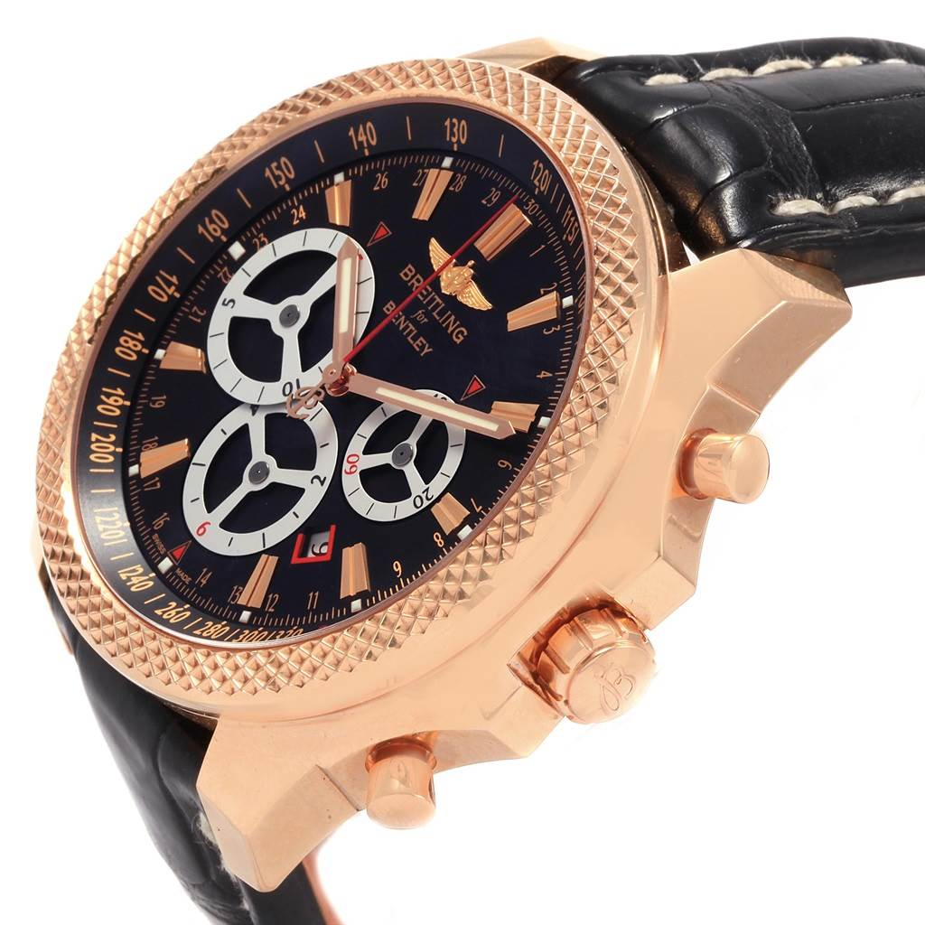 21063 Breitling Bentley Barnato Racing Rose Gold Limited Edition Watch R25366 SwissWatchExpo