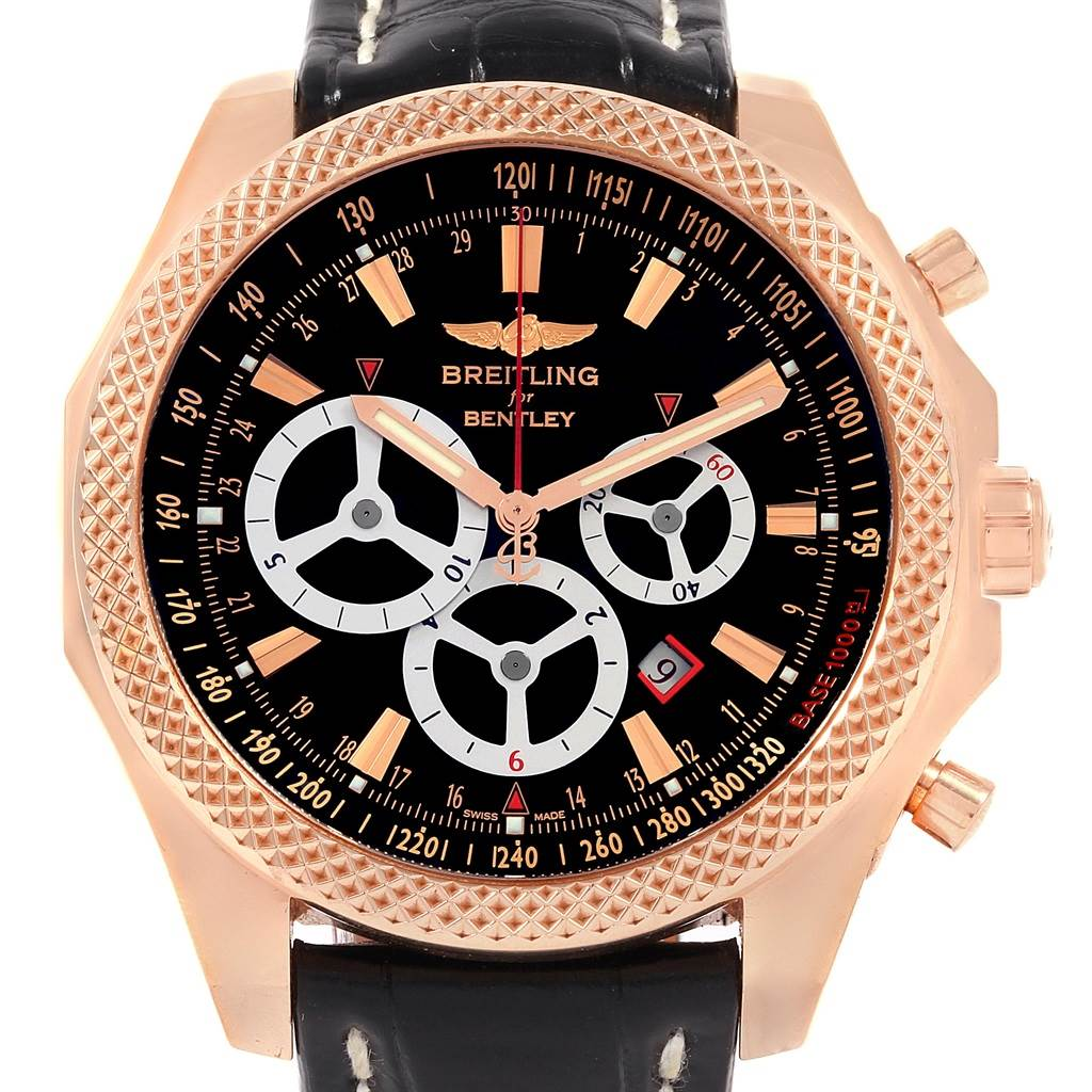 Breitling Bentley Barnato Racing Rose Gold Limited Edition Watch R25366 SwissWatchExpo