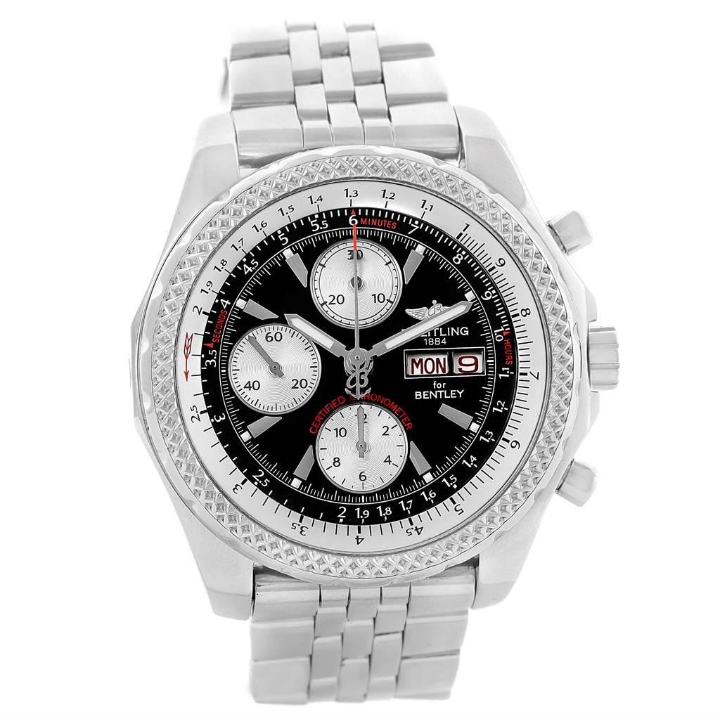 21313 Breitling Bentley Motors GT Black Dial Mens Watch A13362 SwissWatchExpo