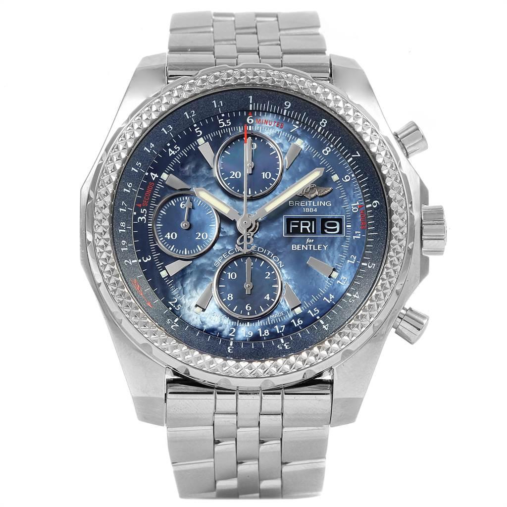 21316 Breitling Bentley Motors GT Blue Dial Mens Watch A13362 SwissWatchExpo