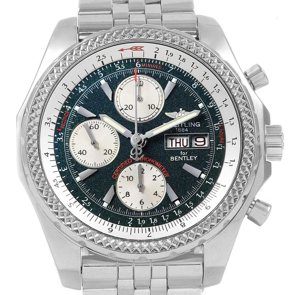 21377 Breitling Bentley Motors GT Green Special Edition Mens Watch A13362 SwissWatchExpo