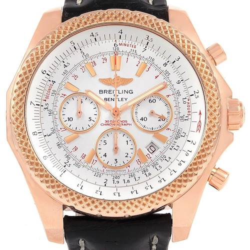 Photo of Breitling Bentley Rose Gold Silver Dial Chronograph Watch R25367