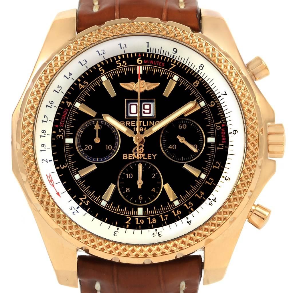 21422 Breitling Bentley Motors 6.75 Yellow Gold Chronograph Mens Watch K44362 SwissWatchExpo