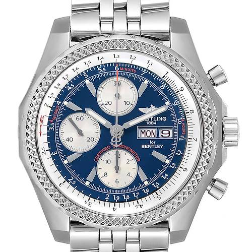 Photo of Breitling Bentley Motors GT Blue Dial Steel Mens Watch A13362