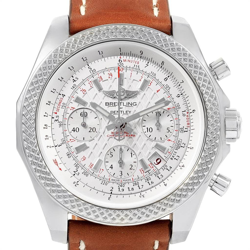 21679 Breitling Bentley B06 Silver Dial Chronograph Watch AB0612 Unworn SwissWatchExpo
