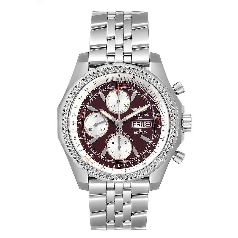 Breitling Bentley Motors GT Burgundy Dial Chronograph Watch A13362 SwissWatchExpo