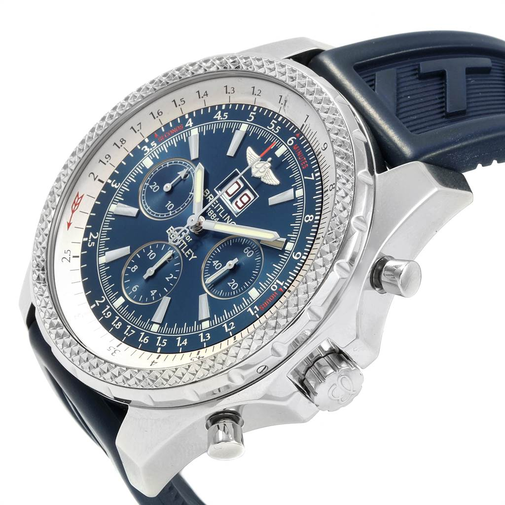Breitling Bentley Motors Blue Dial Chronograph Watch A44362 SwissWatchExpo