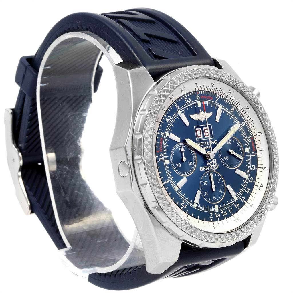 21697 Breitling Bentley Motors Blue Dial Chronograph Watch A44362 SwissWatchExpo