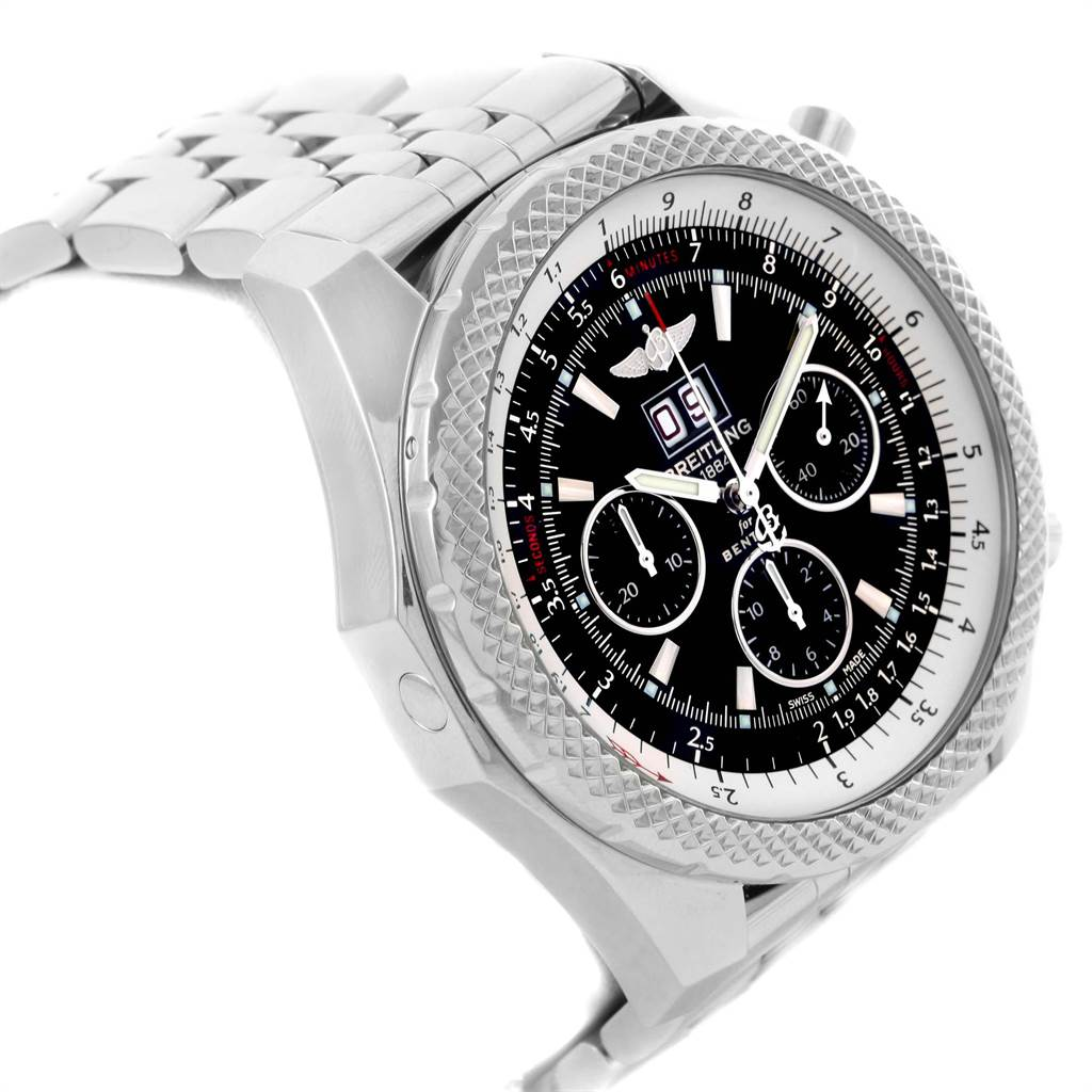 21748 Breitling Bentley 6.75 Speed Chronograph Mens Watch A44364 Box Papers SwissWatchExpo