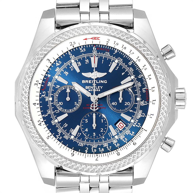 Breitling Bentley Motors Blue Dial Chronograph Watch A25362 Box SwissWatchExpo