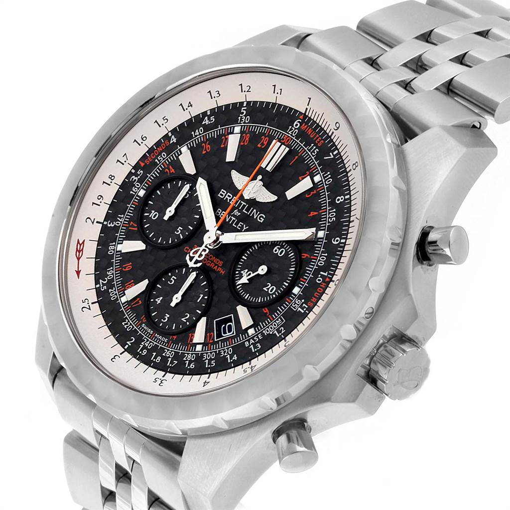 22066 Breitling Bentley Motors T Speed Carbon Dial Limited Watch A25365 SwissWatchExpo