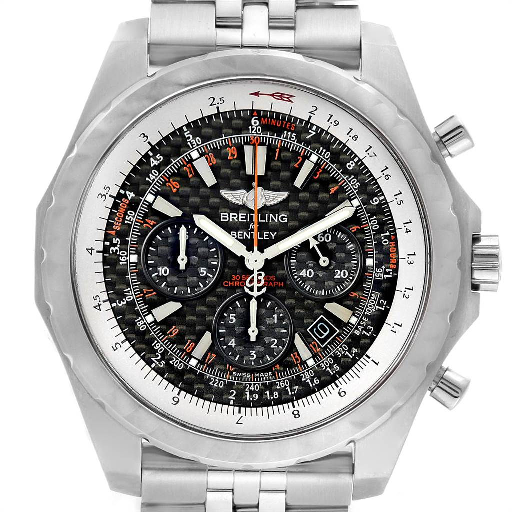 Breitling Bentley Motors T Speed Carbon Dial Limited Watch A25365 SwissWatchExpo
