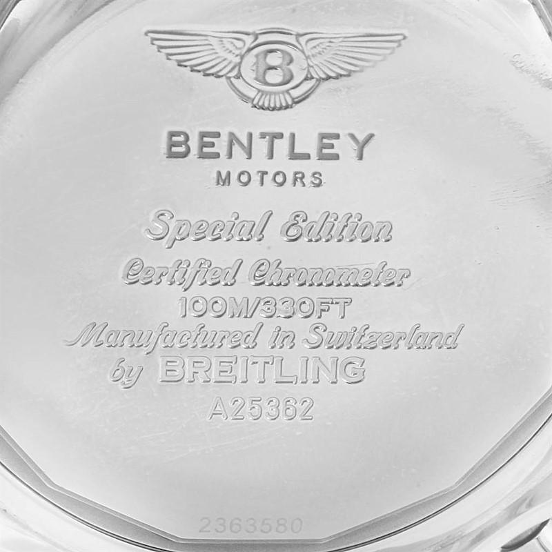 Breitling Bentley Motors Black Dial Chronograph Mens Watch A25362 SwissWatchExpo