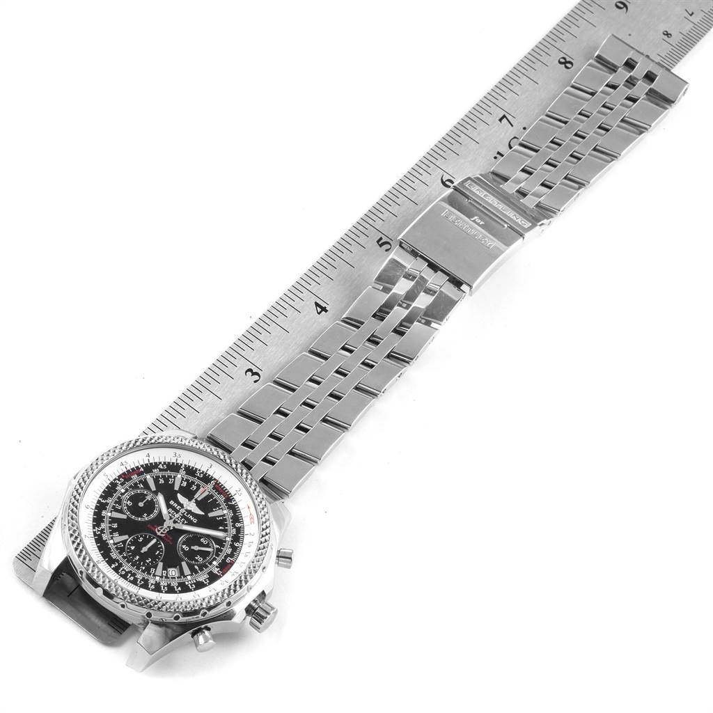 22099 Breitling Bentley Motors Black Dial Chronograph Mens Watch A25362 SwissWatchExpo