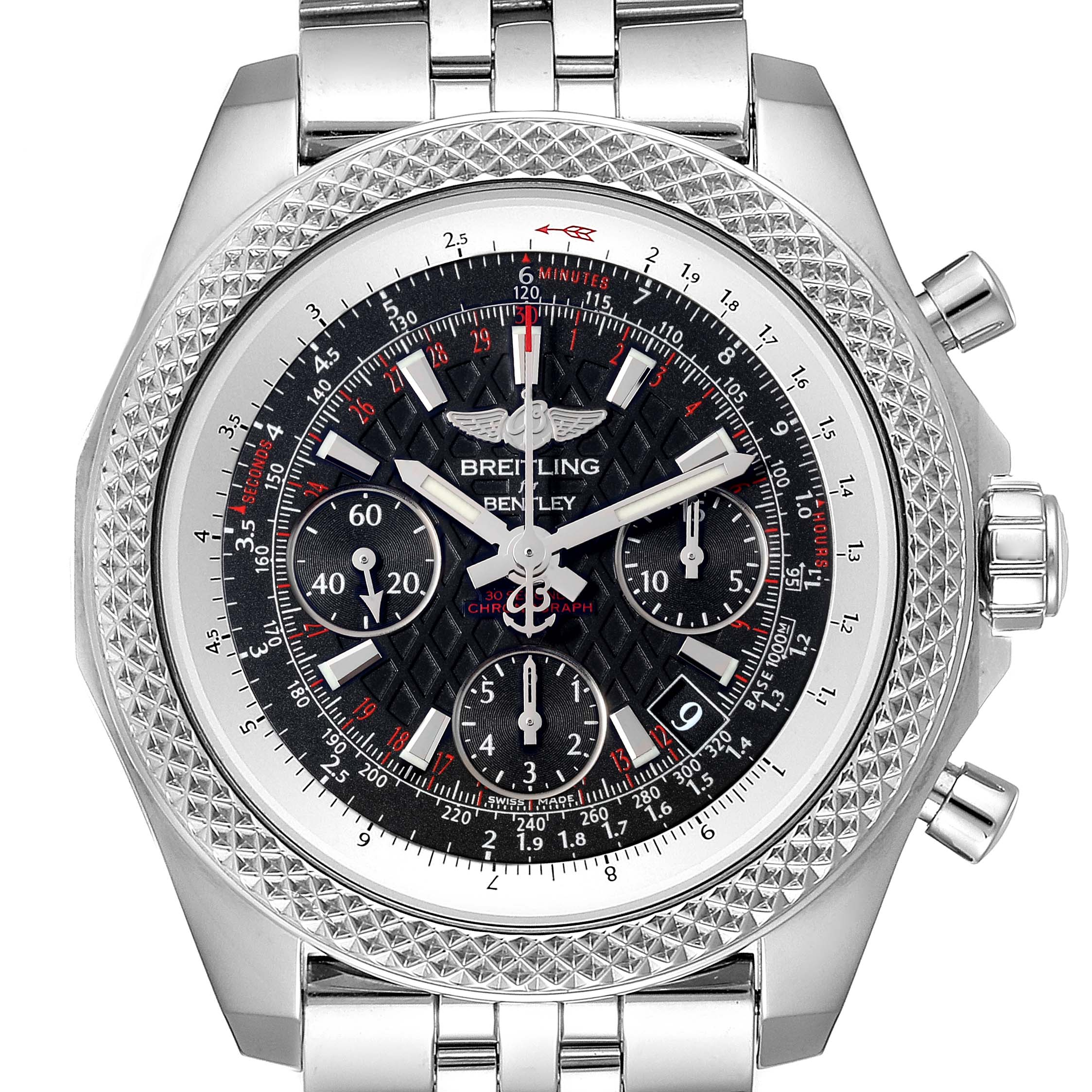 Breitling Bentley B06 Black Dial Chronograph Watch AB0612 Box Papers SwissWatchExpo