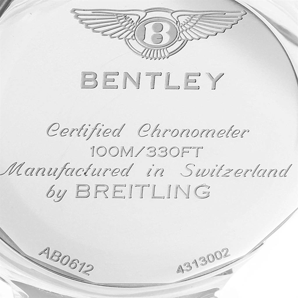 22136 Breitling Bentley B06 Black Dial Chronograph Watch AB0612 Box Papers SwissWatchExpo